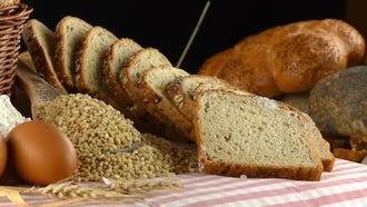 Delicious Fresh Bread Showcase: Stock Video