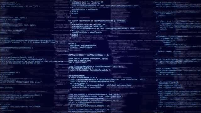 Blue Code Background: Stock Motion Graphics