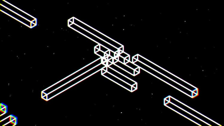 Space Geometry Logo Intro: After Effects Templates