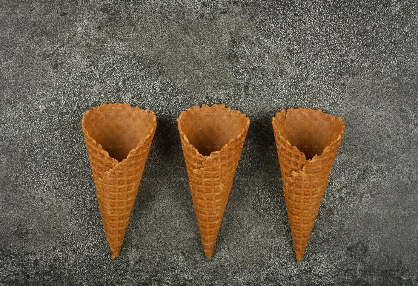 Ice Cream Cones: Stock Photos