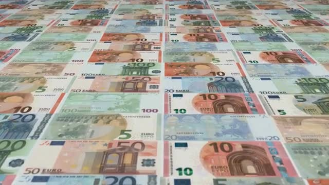 Euro Banknotes: Stock Motion Graphics