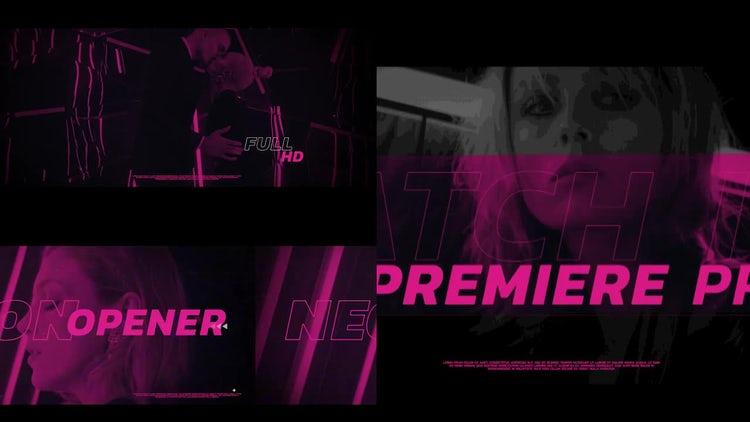Neon Opener: Premiere Pro Templates