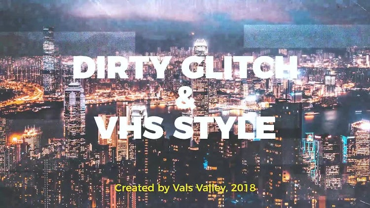 Dirty Glitch & VHS Style: Premiere Pro Templates