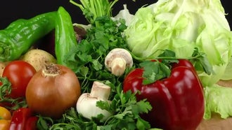 Healthy And Delicious Vegetables: Stock Video