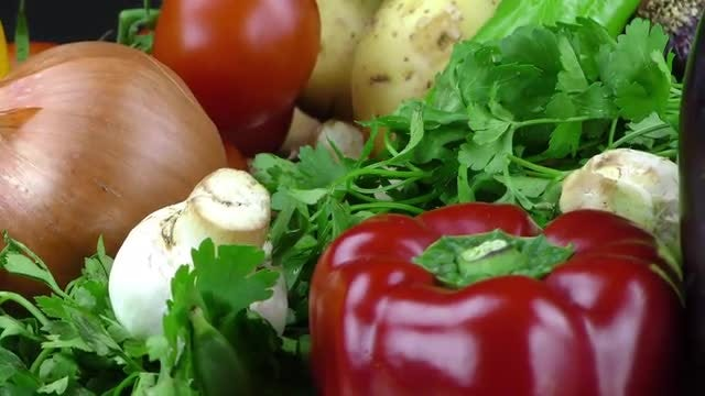 Delicious Mix of Vegetables: Stock Video