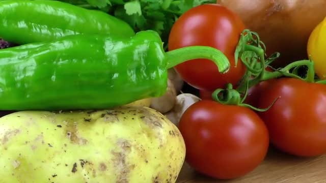 Colorful And Delicious Vegetables Mix: Stock Video