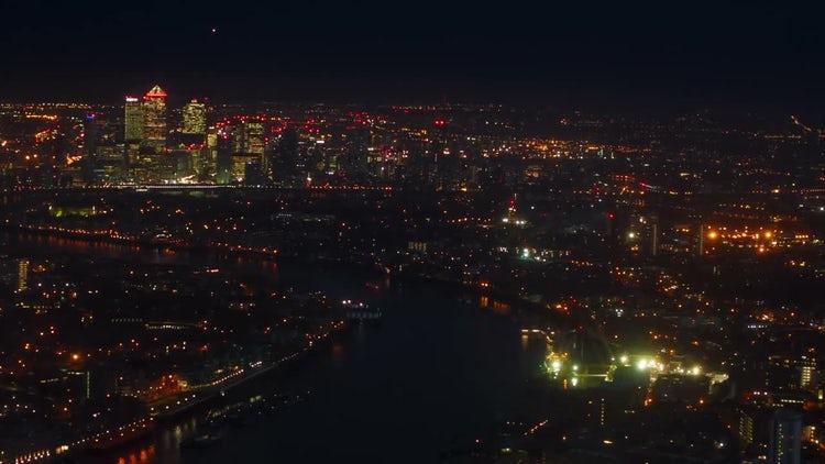 London, England At Night: Stock Video