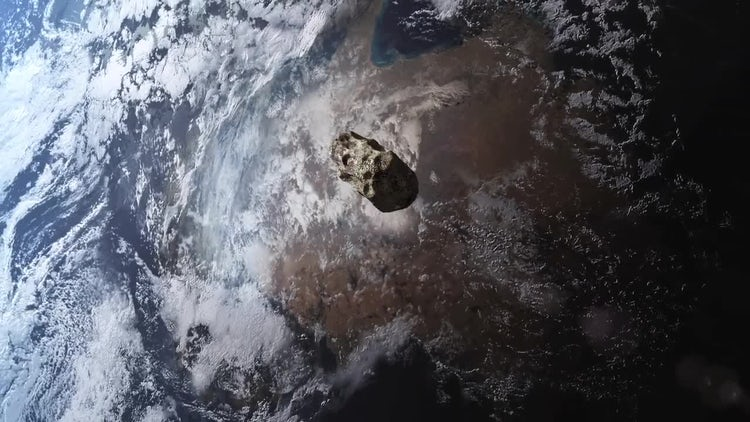 Asteroid Near Miss: Stock Motion Graphics