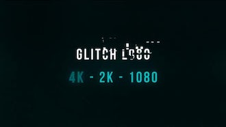 Glitch Logo 4k: After Effects Templates