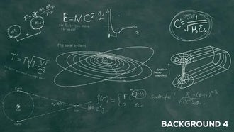 Astronomy And Astrophysics Chalkboard: Motion Graphics