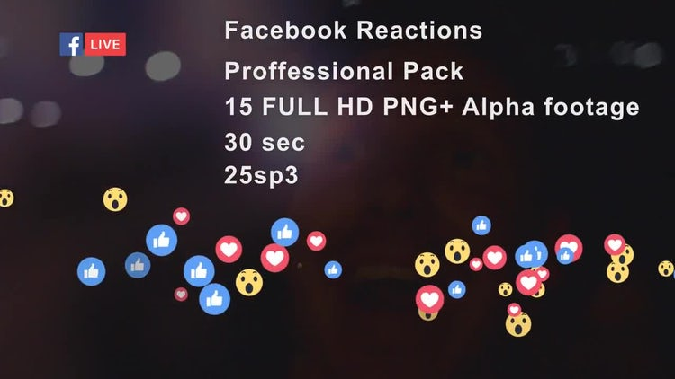 Facebook LIVE Reactions Pack: Motion Graphics