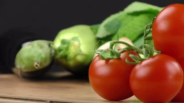 Fresh Vegetables On Display: Stock Video