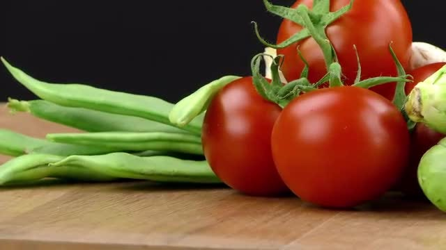 A Mix Of Fresh Vegetables : Stock Video