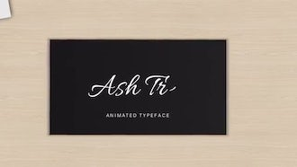 Ash Tree Animated Font: After Effects Templates