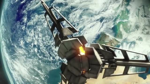Future Satellite Reveal: Stock Motion Graphics