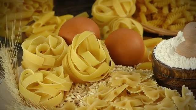 Ingredients For Macaroni Pasta: Stock Video