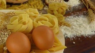 Collection Of Macaroni Pasta Ingredients: Stock Video