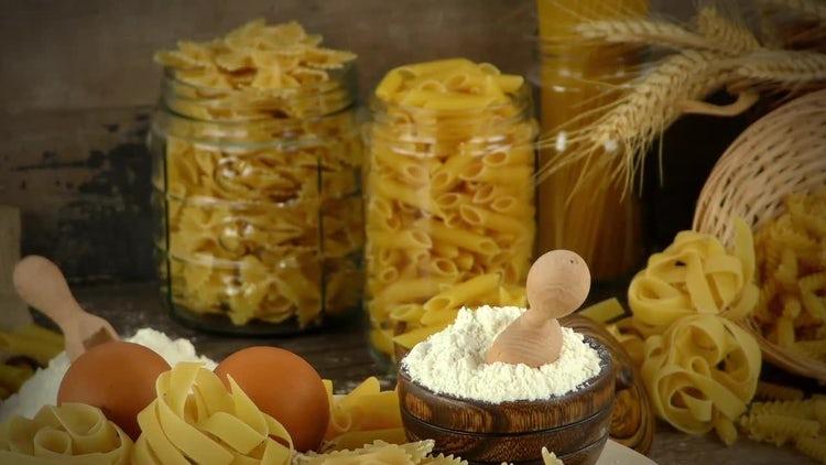 Delicious Macaroni Pasta Mix : Stock Video