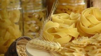 Ingredients For Macaroni Pasta : Stock Video
