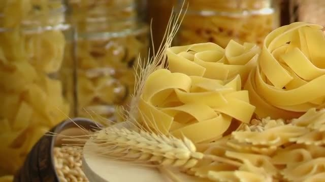 Ingredients For Macaroni Pasta : Stock Video