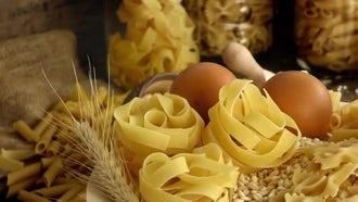 Essential Macaroni Pasta Ingredients : Stock Video