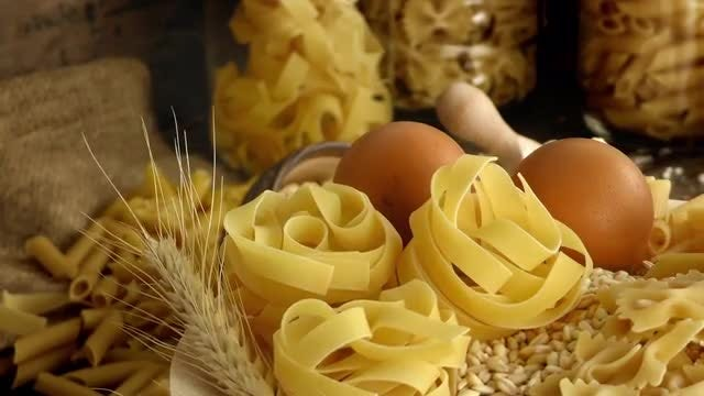Essential Macaroni Pasta Ingredients : Stock Video