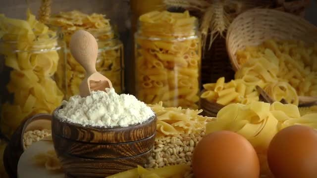 Delicious Pasta Mix: Stock Video