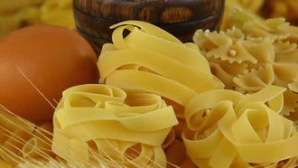Ingredients For Delicious Macaroni Pasta : Stock Video