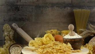 Delicious Macaroni Pasta Ingredients : Stock Video