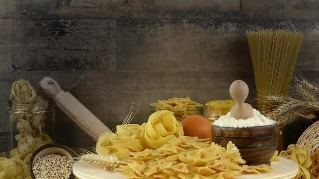 Delicious Macaroni Pasta Ingredients : Stock Video