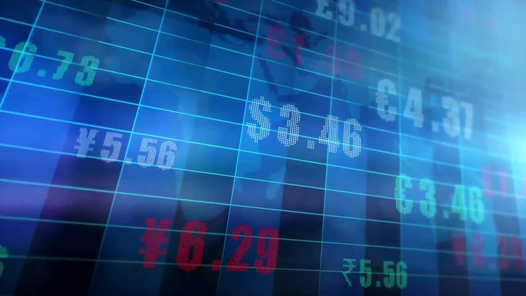 Global Currency Exchange Rates: Stock Motion Graphics