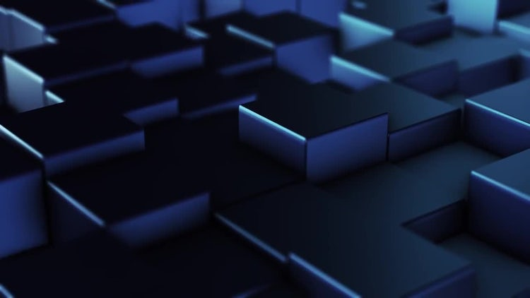 Blue Field Of Squares: Motion Graphics