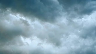 Scary Clouds Gather Storm: Stock Footage
