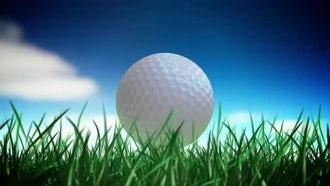 Golf Ball Loop: Motion Graphics