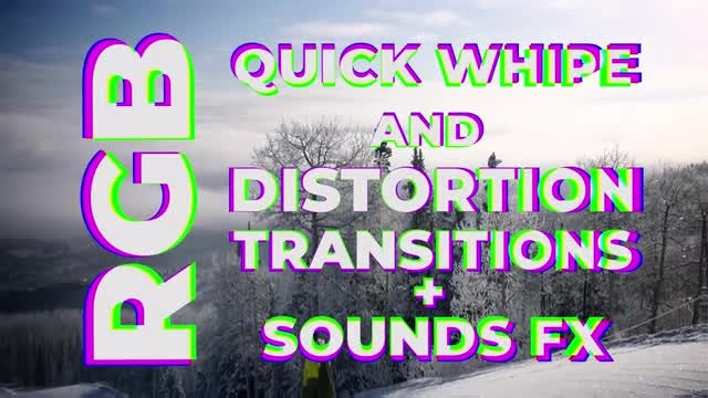 RGB Quick Wipe and Distortion Transitions: Premiere Pro Templates
