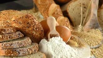 Delicious Fresh Bread Stockpile: Stock Video