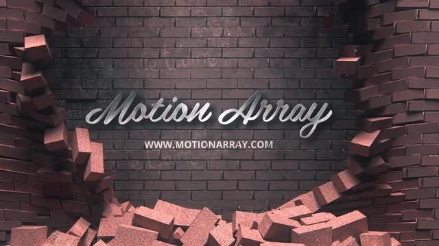 Falling Bricks Logo: After Effects Templates