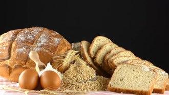 Delicious Fresh Bread Food Concept: Stock Video