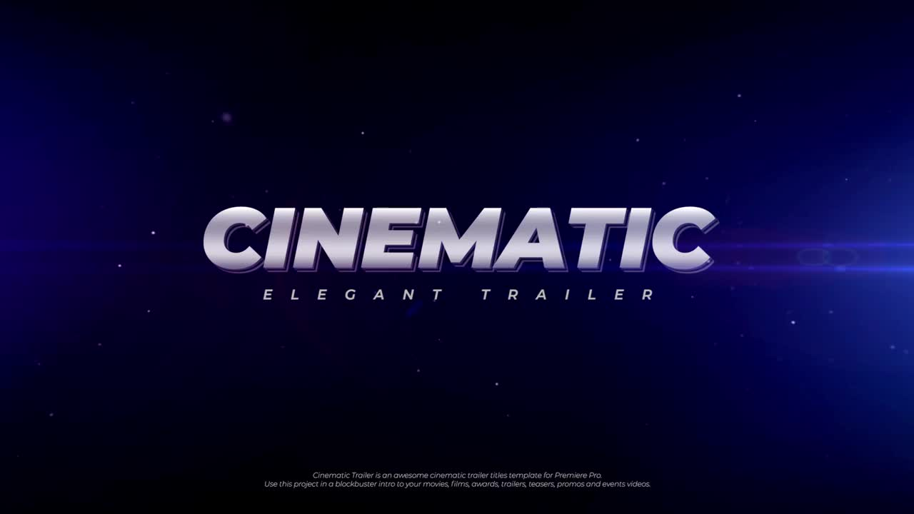Cinematic Trailer - Premiere Pro Templates 69229