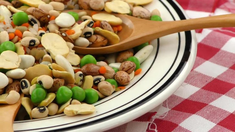 Healthy Mix Of Delicious Legumes : Stock Video