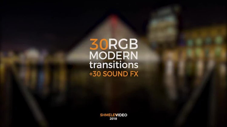 30 Modern Transitions: Premiere Pro Templates