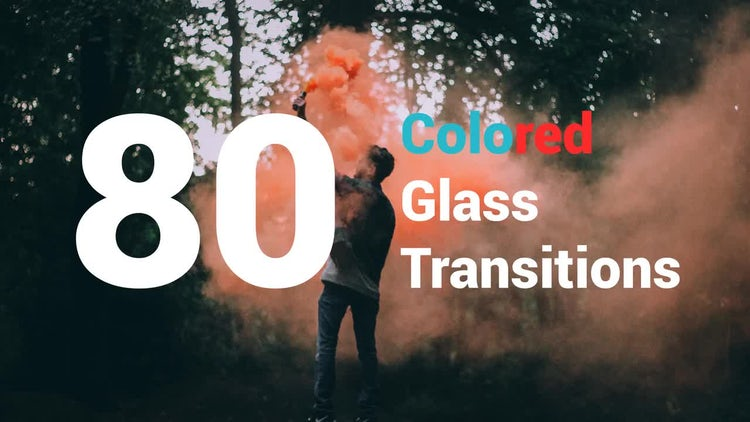 80 Colored Glass Transitions: After Effects Templates