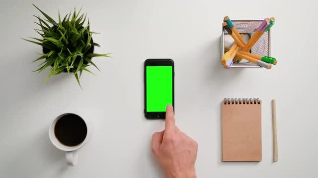 Finger Scrolling On A Smartphone: Stock Video
