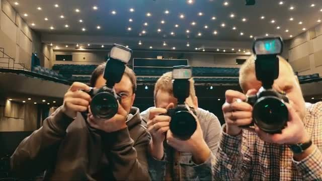 Photographers Trying To Take Pictures: Stock Video