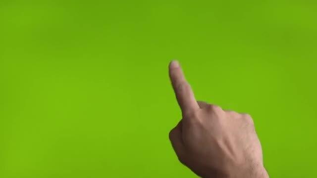 Green Screen Gestures: Stock Video