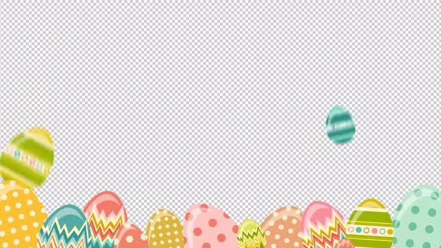 Falling Easter Eggs : Stock Motion Graphics