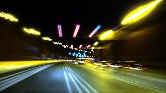 Highway Speed Lights: Stock Video
