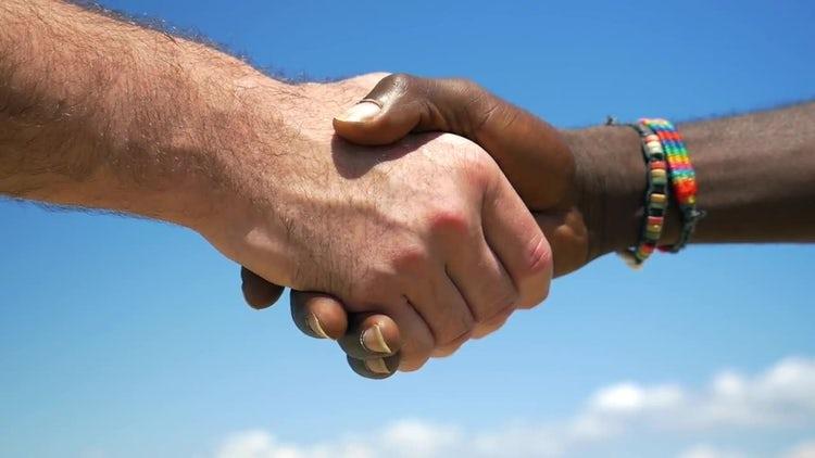 Interracial Handshake: Stock Video