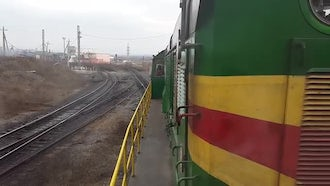 Brightly Colored Train: Stock Video