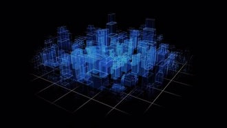 City Hologram: Motion Graphics